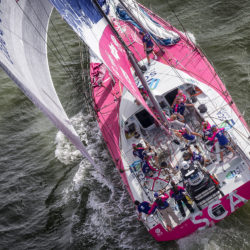 April 18, 2015. Team Vestas Wind In-Port Race in Itajaí, Brazil.
