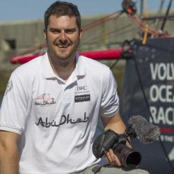 PORTUGAL, Cascais, 20th June 2014. Abu Dhabi Ocean Racing. Matt Knighton, OBR.