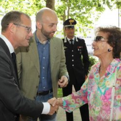 Daniele Bottallo / La Presse 18-06-2015  sport, calcio Juventus - inaugurazione giardino Piero Rava nella foto: un momento dell'evento, Gianluca Pessotto, Giovanna Rava  Daniele Bottallo / La Presse 18-06-2015  sport, soccer Juventus - opening the garden Piero Rava in the picture: a moment of the event, Gianluca Pessotto, Giovanna Rava