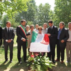 Daniele Bottallo / La Presse 18-06-2015  sport, calcio Juventus - inaugurazione giardino Piero Rava nella foto: un momento dell'evento, Pessotto, Gallo, Rava, Lavolta, Calcagno  Daniele Bottallo / La Presse 18-06-2015  sport, soccer Juventus - opening the garden Piero Rava in the picture: a moment of the event, Pessotto, Gallo, Rava, Lavolta, Calcagno