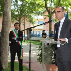 Daniele Bottallo / La Presse 18-06-2015  sport, calcio Juventus - inaugurazione giardino Piero Rava nella foto: un momento dell'evento, Gianluca Pessotto  Daniele Bottallo / La Presse 18-06-2015  sport, soccer Juventus - opening the garden Piero Rava in the picture: a moment of the event, Gianluca Pessotto