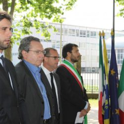 Daniele Bottallo / La Presse 18-06-2015  sport, calcio Juventus - inaugurazione giardino Piero Rava nella foto: un momento dell'evento, Lavolta, Calcagno, Pessotto, Gallo  Daniele Bottallo / La Presse 18-06-2015  sport, soccer Juventus - opening the garden Piero Rava in the picture: a moment of the event Lavolta, Calcagno, Pessotto, Gallo