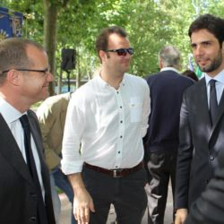 Daniele Bottallo / La Presse 18-06-2015  sport, calcio Juventus - inaugurazione giardino Piero Rava nella foto: un momento dell'evento, Gianluca Pessotto, Enzo Lavolta  Daniele Bottallo / La Presse 18-06-2015  sport, soccer Juventus - opening the garden Piero Rava in the picture: a moment of the event, Gianluca Pessotto, Enzo Lavolta