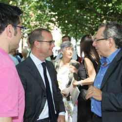 Daniele Bottallo / La Presse 18-06-2015  sport, calcio Juventus - inaugurazione giardino Piero Rava nella foto: un momento dell'evento, Gianluca Pessotto, Federico Calcagno  Daniele Bottallo / La Presse 18-06-2015  sport, soccer Juventus - opening the garden Piero Rava in the picture: a moment of the event, Gianluca Pessotto, Federico Calcagno
