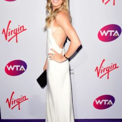 Genie Bouchard attending the WTA Pre-Wimbledon Party at The Roof Gardens, Kensington, London. PRESS ASSOCIATION Photo. Picture date: Thursday June 25, 2015. See PA story SHOWBIZ Wimbledon. Photo credit should read: Dominic Lipinski/PA Wire