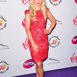 Sabine Lisicki attending the WTA Pre-Wimbledon Party at The Roof Gardens, Kensington, London. PRESS ASSOCIATION Photo. Picture date: Thursday June 25, 2015. See PA story SHOWBIZ Wimbledon. Photo credit should read: Dominic Lipinski/PA Wire