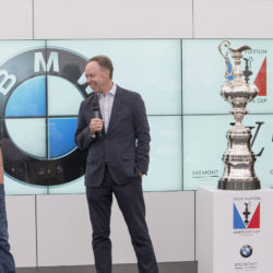 22/07/2015, Portsmouth (GBR), 35th America's Cup, Louis Vuitton America's Cup World Series Portsmouth 2015, Officail training, BMW Press Conference with James Spithill, Dr Ian Robertson (Head of Sales & Marketing BMW Group, Russell Coutts