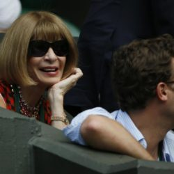 Editor of American Vogue Anna Wintour watches on centre court at the Wimbledon Tennis Championships in London, July 2, 2015.          REUTERS/Stefan Wermuth