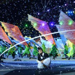 (150703) -- GWANGJU, July 3, 2015 (Xinhua) -- Photo taken on July 3, 2015 shows the opening ceremony of the 28th Summer Universiade in Gwangju, South Korea. (Xinhua/Tao Xiyi)