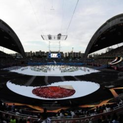 (150703) -- GWANGJU, July 3, 2015 (Xinhua) -- Photo taken on July 3, 2015 shows the opening ceremony of the 28th Summer Universiade in Gwangju, South Korea. (Xinhua/Bai Xuefei)