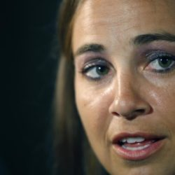 July 4, 2015 - BECKY HAMMON is about to become the first woman to serve as the head coach of an NBA summer league team. San Antonio announced Friday that Hammon will lead the Spurs during summer league play in Las Vegas. She is entering her second season as an assistant coach for the Spurs. Pictured: May 18, 2011 - San Antonio, Texas, U.S. - The WNBA's Silver Stars Becky Hammon answers reporters questions at their practice facility, the Antioch Baptist Church recreation center, during the team's media day. Becky Hammon, la prima donna dell'NBA ZumaPressLaPresse  -- Only Italy