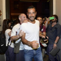 foto Fabio Ferrari - LaPresse 08/07/2015 Torino ( Italia )  sport Il Torino Fc si ritrova all'Hotel Boston di Torino in vista del ritiro estivo pre-campionato. nella foto:Fabio Quagliarella  photo Fabio Ferrari - LaPresse 08/07/2015  Turin ( Italy )  sport Torino Fc can be found at the Hotel Boston in Turin in view of the pre-season training camp. in the pic:Fabio Quagliarella