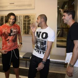 foto Fabio Ferrari - LaPresse 08/07/2015 Torino ( Italia )  sport Il Torino Fc si ritrova all'Hotel Boston di Torino in vista del ritiro estivo pre-campionato. nella foto:Amauri, Bruno Peres, Avelar  photo Fabio Ferrari - LaPresse 08/07/2015  Turin ( Italy )  sport Torino Fc can be found at the Hotel Boston in Turin in view of the pre-season training camp. in the pic:Amauri, Bruno Peres, Avelar