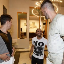foto Fabio Ferrari - LaPresse 08/07/2015 Torino ( Italia )  sport Il Torino Fc si ritrova all'Hotel Boston di Torino in vista del ritiro estivo pre-campionato. nella foto:Bovo, Bruno Peres, Avelar  photo Fabio Ferrari - LaPresse 08/07/2015  Turin ( Italy )  sport Torino Fc can be found at the Hotel Boston in Turin in view of the pre-season training camp. in the pic:Bovo, Bruno Peres, Avelar