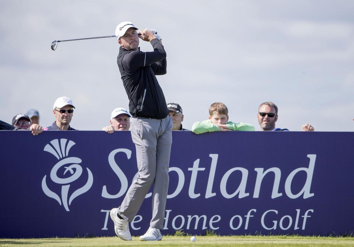 Scotland's Martin Laird tees off at the 7th hole during day one of the Scottish Open at Gullane Golf Club, East Lothian. PRESS ASSOCIATION Photo. Picture date: Thursday July 9, 2015. See PA story GOLF Gullane. Photo credit should read: Kenny Smith/PA Wire. RESTRICTIONS: Editorial use only. No commercial use. No false commercial association. No video emulation. No manipulation of images.
