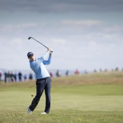 Scotland's Russell Knox plays his approach to the 9th during day one of the Scottish Open at Gullane Golf Club, East Lothian. PRESS ASSOCIATION Photo. Picture date: Thursday July 9, 2015. See PA story GOLF Gullane. Photo credit should read: Kenny Smith/PA Wire. RESTRICTIONS: Editorial use only. No commercial use. No false commercial association. No video emulation. No manipulation of images.