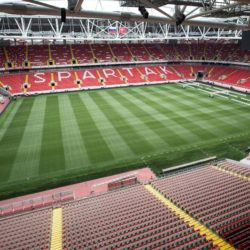 (150710) -- MOSCOW, July 10, 2015 (XINHUA) -- Photo taken on July 9, 2015 shows the interiors of the Spartak stadium in Moscow, Russia. Russia will host the FIFA World Cup soccer tournament in 2018. (Xinhua/Li Ming)