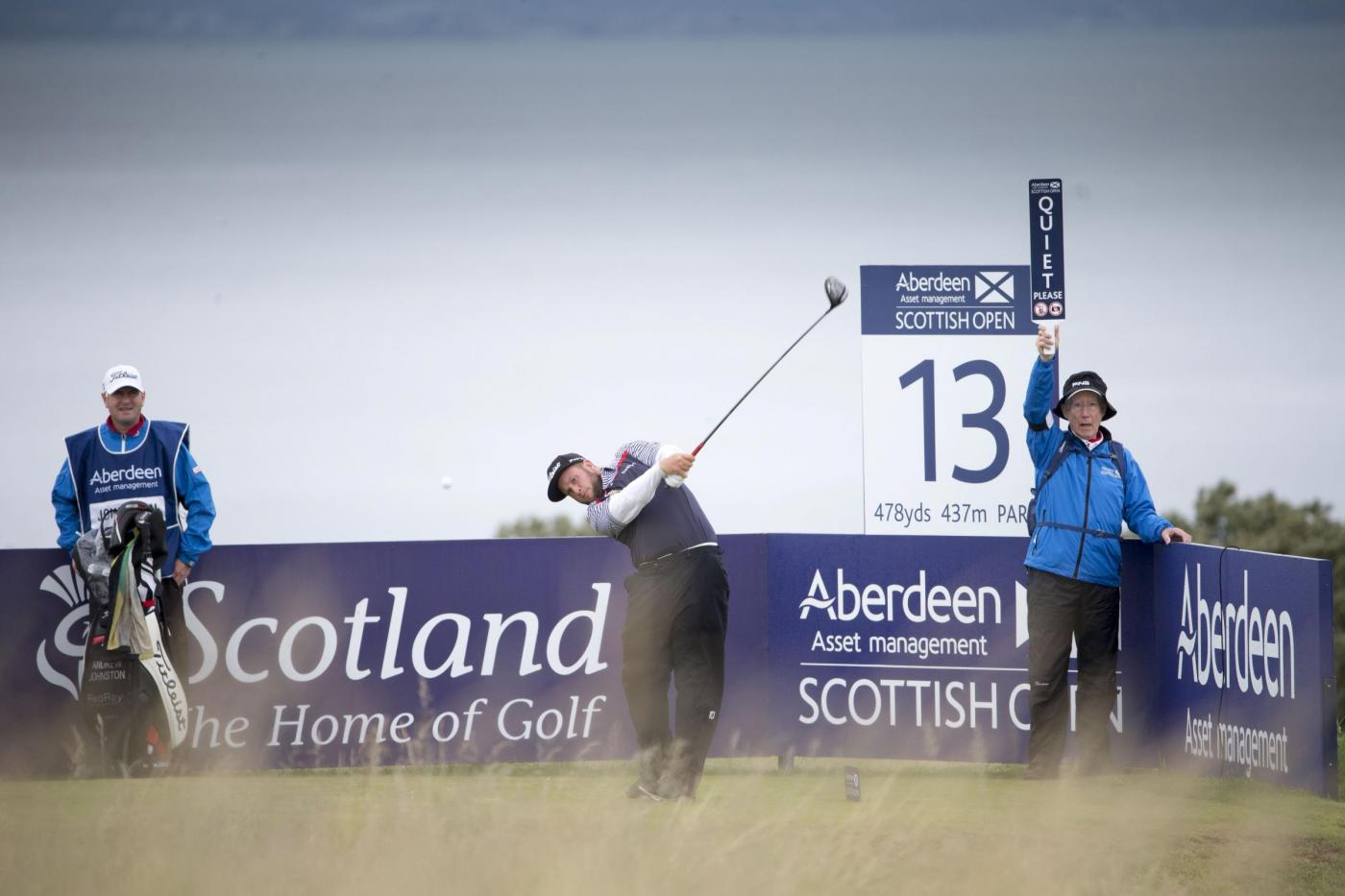 England's Andrew Johnston tees off at the 13th hole during day two of the Scottish Open at Gullane Golf Club, East Lothian. PRESS ASSOCIATION Photo. Picture date: Friday July 10, 2015. See PA story GOLF Gullane. Photo credit should read: Kenny Smith/PA Wire. RESTRICTIONS: Editorial use only. No commercial use. No false commercial association. No video emulation. No manipulation of images.