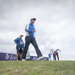 England's Daniel Brooks walks off the 4th tee during day three of the Scottish Open at Gullane Golf Club, East Lothian. PRESS ASSOCIATION Photo. Picture date: Saturday July 11, 2015. See PA story GOLF Gullane. Photo credit should read: Kenny Smith/PA Wire. RESTRICTIONS: Editorial use only. No commercial use. No false commercial association. No video emulation. No manipulation of images.