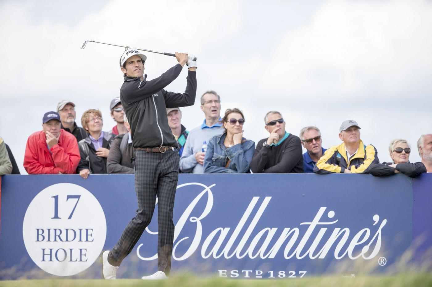 Spain's Pedro Oriol tees off at the 17th hole during day three of the Scottish Open at Gullane Golf Club, East Lothian. PRESS ASSOCIATION Photo. Picture date: Saturday July 11, 2015. See PA story GOLF Gullane. Photo credit should read: Kenny Smith/PA Wire. RESTRICTIONS: Editorial use only. No commercial use. No false commercial association. No video emulation. No manipulation of images.