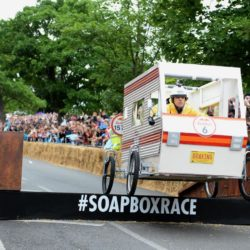 EDITORIAL USE ONLY Team 'Braking Badly' take part in the Red Bull Soapbox Race, at Alexandra Palace, London. PRESS ASSOCIATION Photo. Picture date: Sunday July 12, 2015. The Red Bull Soapbox Race will be shown exclusively on Dave at 6pm on Sunday. See PA story TRANSPORT Soapbox. Photo credit should read: Doug Peters/PA Wire