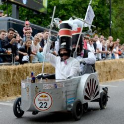 EDITORIAL USE ONLY Team 'The SS Great Babe' take part in the Red Bull Soapbox Race, at Alexandra Palace, London. PRESS ASSOCIATION Photo. Picture date: Sunday July 12, 2015. See PA story TRANSPORT Soapbox. Photo credit should read: Doug Peters/PA Wire