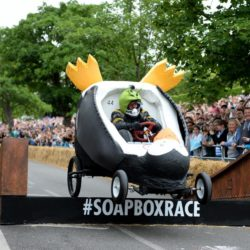 EDITORIAL USE ONLY Team 'Sliide' take part in the Red Bull Soapbox Race, at Alexandra Palace, London. PRESS ASSOCIATION Photo. Picture date: Sunday July 12, 2015. See PA story TRANSPORT Soapbox. Photo credit should read: Doug Peters/PA Wire