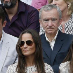 Pippa Middleton on Centre Court at the Wimbledon Tennis Championships in London, July 12, 2015.                                                      REUTERS/Stefan Wermuth