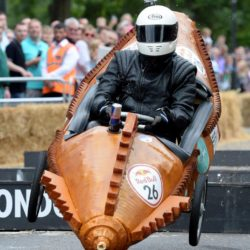 EDITORIAL USE ONLY Team 'Novacraft Nautilus' take part in the Red Bull Soapbox Race, at Alexandra Palace, London. PRESS ASSOCIATION Photo. Picture date: Sunday July 12, 2015. See PA story TRANSPORT Soapbox. Photo credit should read: Doug Peters/PA Wire