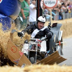 EDITORIAL USE ONLY Team 'The Charlotte Dumbed Down' take part in the Red Bull Soapbox Race, at Alexandra Palace, London. PRESS ASSOCIATION Photo. Picture date: Sunday July 12, 2015. See PA story TRANSPORT Soapbox. Photo credit should read: Doug Peters/PA Wire