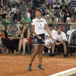 Claudio BernardiMilanoMarittima, 11 luglio 2015Vip Master Tennis 2015. Ancora una volta molti vip dello spettacolo e dello sport si sono dati appuntamento per sfidarsi sul campo di terra rossa. nella foto: Roberta Giarrusso LaPresse
