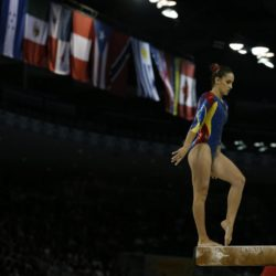 Yurany Avendaf Colombia getting ready to perform at the Artistic Gymnastics competitions at the Pan Am Games in Toronto, Canada, 12 July 2015. EFE/ALEJANDRO ERNESTO Lapresse Only italyPan Am Games 2015