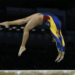 Ginna Escobar of Colombia performs during the Artistic Gymnastics competitions at the Pan Am Games in Toronto, Canada, 12 July 2015.EPA/ORLANDO BARRIA Lapresse Only italyPan Am Games 2015