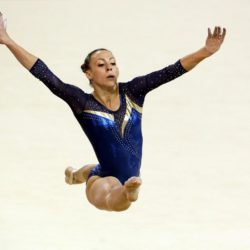 Merlina Galera of Argentina performs during the Artistic Gymnastics competitions at the Pan Am Games in Toronto, Canada, 12 July 2015. EFE/ALEJANDRO ERNESTO Lapresse Only italyPan Am Games 2015