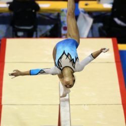 Ivet Rojas of Venezuela performs during the Artistic Gymnastics competitions at the Pan Am Games in Toronto, Canada, 12 July 2015. EFE/ALEJANDRO ERNESTO Lapresse Only italyPan Am Games 2015