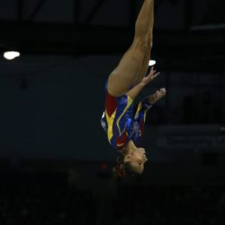 Bibiana Velez of Colombia performs during the Artistic Gymnastics competitions at the Pan Am Games in Toronto, Canada, 12 July 2015. EFE/ORLANDO BARRIA Lapresse Only italyPan Am Games 2015