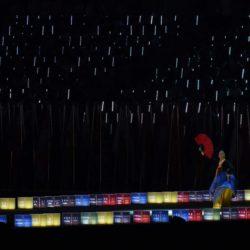 (150714) -- GWANGJU, July 14, 2015 (Xinhua) --  A dancer performs during the closing ceremony of 2015 Summer Universiade at the Gwangju World Cup Stadium in Gwangju, South Korea, on July 14, 2015. (Xinhua/Tao Xiyi)(wll)