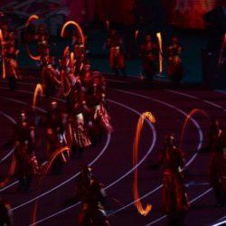 (150714) -- GWANGJU, Jul. 14, 2015 (Xinhua) --  Performers perform during the closing ceremony of 2015 Summer Universiade at the Gwangju World Cup Stadium in Gwangju, South Korea, on July 14, 2015. (Xinhua/Tao Xiyi)(wll)