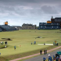 A general view of play on the 17th green during a practice day ahead of The Open Championship 2015 at St Andrews, Fife. PRESS ASSOCIATION Photo. Picture date: Tuesday July 14, 2015. See PA story GOLF Open. Photo credit should read: David Davies/PA Wire. RESTRICTIONS: Editorial use only - no commercial use. No onward sale. Still image use only. The Open Championship logo and clear link to The Open website (www.TheOpen.com) to be included on website publishing. Call +44 (0)1158 447447 for further info.