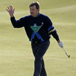 England's Sir Nick Faldo acknowledges the crowd on the 18th during the Champions Challenge at St Andrews, Fife. PRESS ASSOCIATION Photo. Picture date: Wednesday July 15, 2015. See PA story GOLF Open. Photo credit should read: Danny Lawson/PA Wire. RESTRICTIONS: Editorial use only - no commercial use. No onward sale. Still image use only. The Open Championship logo and clear link to The Open website (www.TheOpen.com) to be included on website publishing. Call +44 (0)1158 447447 for further info.