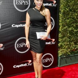Softball pitcher Jennie Finch arrives for the 2015 ESPY Awards in Los Angeles, California July 15, 2015.  REUTERS/Danny Moloshok