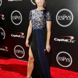 U.S. Women's National Soccer team player Alex Morgan arrives for the 2015 ESPY Awards in Los Angeles, California July 15, 2015.  REUTERS/Danny Moloshok