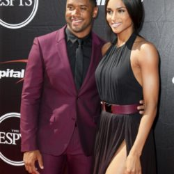NFL football quarterback Russell Wilson (L) and singer Ciara arrive for the 2015 ESPY Awards in Los Angeles, California July 15, 2015.  REUTERS/Danny Moloshok