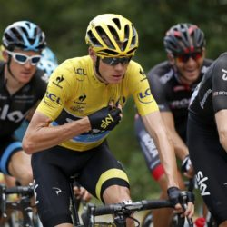 Team Sky rider Chris Froome of Britain, the overall leader's yellow jersey holder, rides during the 183-km (113.71 miles) 15th stage of the 102nd Tour de France cycling race from Mende to Valence, France, July 19, 2015. REUTERS/Benoit Tessier