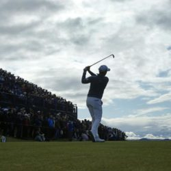 England's Danny Willett tees off  during day four of The Open Championship 2015 at St Andrews, Fife. PRESS ASSOCIATION Photo. Picture date: Sunday July 19, 2015. See PA story GOLF Open. Photo credit should read: Danny Lawson/PA Wire. RESTRICTIONS: Editorial use only - no commercial use. No onward sale. Still image use only. The Open Championship logo and clear link to The Open website (www.TheOpen.com) to be included on website publishing. Call +44 (0)1158 447447 for further info.