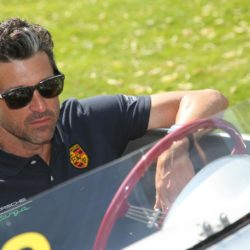 Schauspieler Patrick Dempsey vor dem Start mit seinem Porsche / 180715 Lapresse Only italyPatrick Dempsey ed altri vips al 'Rally Car Ennstal Classic' Lapresse Only italyPatrick Dempsey ed altri vips al 'Rally Car Ennstal Classic' *** Local Caption *** 20281800
