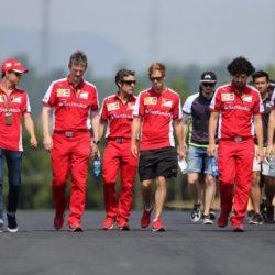 © Photo4 / LaPresse 23/07/2015 Budapest, Hungary Sport  Grand Prix Formula One Hungary 2015 In the pic: Esteban Gutierrez (MEX) Ferrari Test and Reserve Driver and Sebastian Vettel (GER) Scuderia Ferrari SF15-T