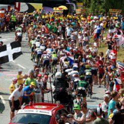 PHOTOPQR/LE DAUPHINE ; Angelique SUREL/ Le Dauphine Libere /  Gap le 23 juillet 2015. Cyclisme. Tour de France 2015. Etape 18 Gap-St Jean de Maurienne. L'echappee dans le Rivier d'Allemont Lapresse Only italy Tour de France 2015 - 18a Tappa