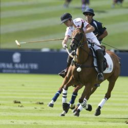 England's Max Charlton (front) competes in the Coronation Cup at the Royal Salute Coronation Cup, in aid of the Polo Charities Trust, at Guards Polo Club, Windsor Great Park, Egham. PRESS ASSOCIATION Photo. Picture date: Saturday July 25, 2015. Photo credit should read: Philip Ide/Mail on Sunday/PA Wire