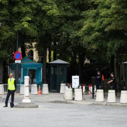 Police outside the American Embassy near the Champs-Elysees in Paris, France where the final stage of the Tour de France is due to take place later today. . PRESS ASSOCIATION Photo. Picture date: Sunday July 26, 2015. See PA story CYCLING Tour. Photo credit should read: Mike Egerton/PA Wire.